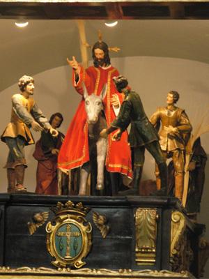 """La Entrada Triunfal de Jesús en Jerusalén, """"La Borriquilla"""". Francisco Giralte hacia 1542-1550."""
